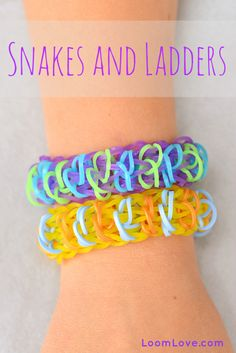 How to Make a Rainbow Loom Snakes and Ladders Bracelet