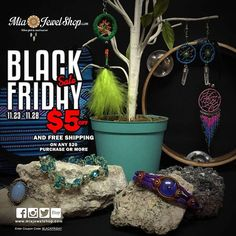 """***BLACK FRIDAY SALE*** $5 off AND free shipping on any purchase $20 or more.  Apply code """"BLACKFRIDAY"""" at checkout for this deal. Valid from 11/23/16-11/28/16 :)  Shop now at www.MiaJewelShop.com"""
