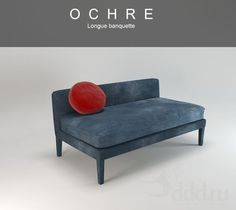 OCHRE / long bench 3dsMax 2010 + obj (Vray) : Other soft seating : 3dSky - 3d models