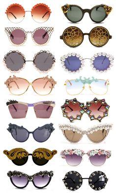 DIY: Gafas de sol adornadas /  Embellished Sunglasses (Inspo and DIY)