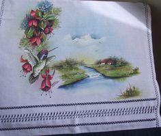 Meu trabalho com Paisagem, flores e pássaros