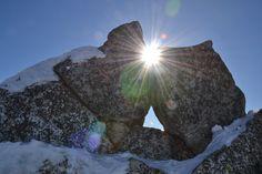 Rainbow of the Light in stones