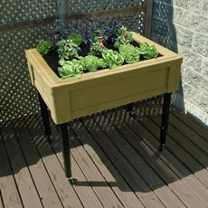 Garden Table With Casters And Adjustable Legs