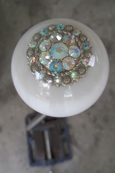 White Pearl Swarovski Crystal Shift Knob - HouseOspeed - Hot Rod Shift Knob