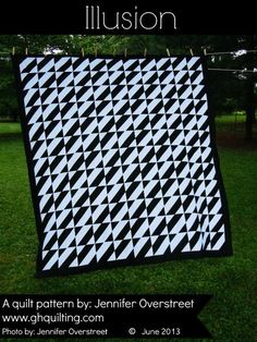 """This free quilt pattern is called """"Illusion"""". The Illusion quilt is a fast and easy constructed quilt that will entertain the masses not to..."""