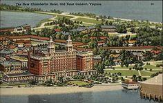 The New Chamberlin Hotel Old Point Comfort, Virginia Original Vintage Postcard CardCow Vintage Postcards http://www.amazon.com/dp/B00PB90SHU/ref=cm_sw_r_pi_dp_GuX2wb1AZDHTH