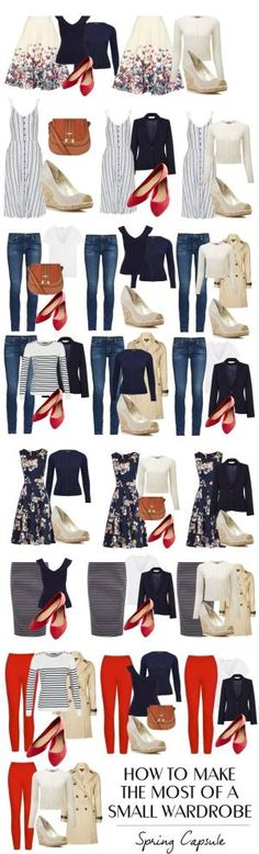 How to make the most of a very small wardrobe: spring capsule wardrobe by kara