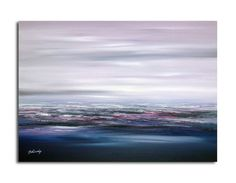 "Original abstract landscape oil painting - Purple sky - Purple, violet, indigo, magenta, blue abstract oil painting - 19,7"" x 27,6"" on Etsy, $225.00"