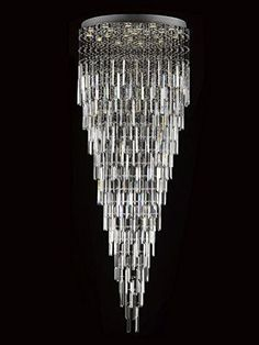 Modern Contemporary Chandelier Rain Drop Chandeliers Lighting With Crystal Bars H60 Xw28
