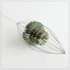 Jocelyn's new collection - ' Blooming' is inspirited from nature and plants. Beautiful and delicate brooches are made from paper and steel. Contemporary jewellery
