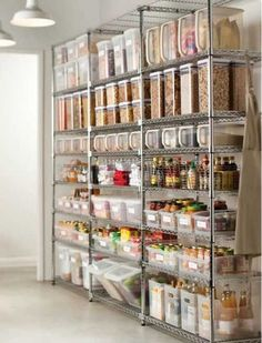 Love these shelves. There is a link to the shelves and baskets (with a discount). Can't wait to get started on creating my own dream pantry.