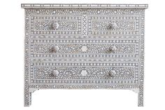 Mother-of-Pearl Chest from Shiva Collection, $2,999, sangandserena.com