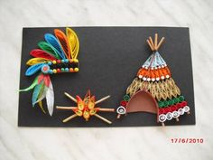 Tepee and Indian Headdress - Quilled Creations Quilling Gallery