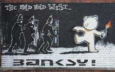 """Saudi Arabia is to host an exhibition showcasing work from the British graffiti artist Banksy. The show, """"The Art of Banksy 'Without Limits,'"""" will open at the King Abdullah Financial Center in Riyadh on Feb. Banksy Graffiti, Street Art Banksy, Banksy Posters, Banksy Artwork, Bansky, Banksy Canvas Prints, Wall Art Prints, Poster Prints, Canvas Art"""