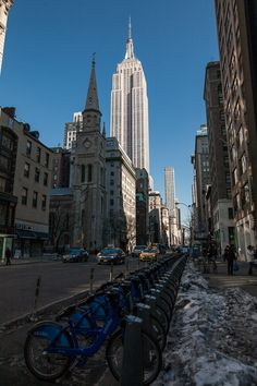 Empire State Building and Citi Bikes with the 24mm F1.4 DG HSM | Art lens. 1/640 F6.3 ISO 100 on a 5D classic by Jack Howard
