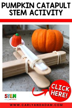 Can your students design a catapult to launch a candy pumpkin the farthest distance? Carly and Adam have put together the perfect October STEM Challenge just in time for Halloween. Your elementary students are going to love designing and catapult and launching candy pumpkins. Click for more info! #STEM Candy Pumpkin, Coding For Kids, Easel Activities, Stem Learning, Stem Challenges, Stem Projects, Catapult, Pumpkins, Distance