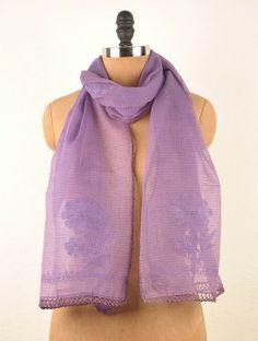 Purple Tepchi Kota Cotton Stole