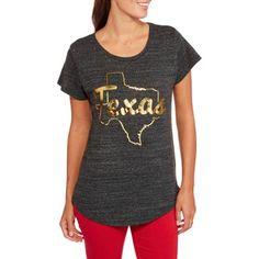 Home Free Women's Metallic State Pride T-Shirt - Walmart.com