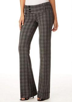 plaid flare pants - Pi Pants