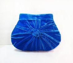 Pleated Blue ClutchUnique Elegant and retro Blue by MariesCorner, $53.00