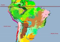 Ecoregions of Brazil - The Encyclopedia of Earth Books To Buy, Alchemist, Book 1, Jaguar, Geography, Brazil, Maps, Earth, Movie Posters