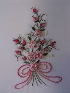 How to Make Beautiful 3D Flower with Thread Embroidery   www.FabArtDIY.com LIKE Us on Facebook ==> https://www.facebook.com/FabArtDIY