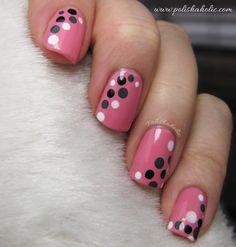 Pink - Dots - Manicure