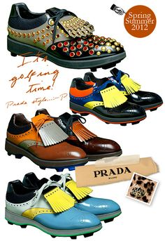 These golf shoes really make a bold statement! #golf #shoes #bold