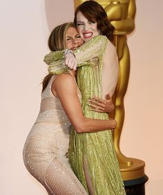 Probably our favorite moment from the Oscars red carpet