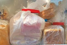 Beat freezer burn and extend the life of your loaves with a few tips. Freezer Burn, Freezer Cooking, Freezer Meals, Cooking Tips, Croissants, Bagels, Freezing Bread, Biscuits, Peasant Bread