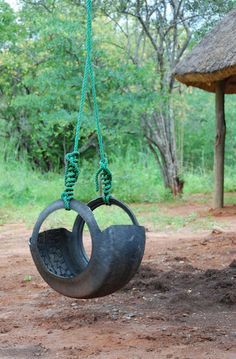 Tire swing. My Grandpa made mine like this one!  ❤