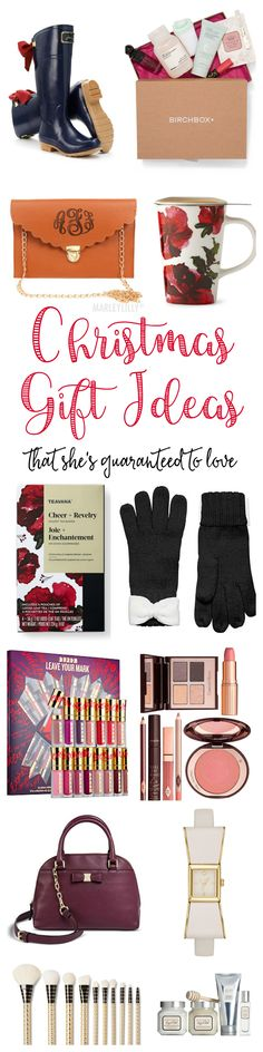 This post features a collection of the BEST Christmas gift ideas for women with items starting at only $10! With over 50 items to choose from, you're guaranteed to find a gift that she'll love!