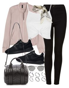 """""""Untitled #2253"""" by marianam97 ❤ liked on Polyvore featuring Topshop, NIKE, Alexander Wang, Linda Farrow and ASOS"""