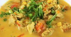 """""""Lempeä kanakeitto maistuu aina! Keitto on myös helposti muunneltavissa """"mitä kaapista löytyy periaatteella"""" !!!"""" Kanakeitto N. 400... Thai Red Curry, Ethnic Recipes, Food, Essen, Meals, Yemek, Eten"""
