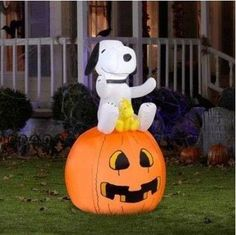 this snoopy and woodstock halloween inflatable yard decoration is listed on ebay for - Halloween Inflatable Yard Decorations