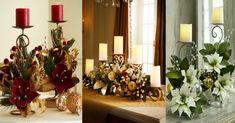 Centros de mesa navideños con bases metálicas Gold Christmas Decorations, Christmas Lanterns, Felt Christmas, Christmas Wreaths, Christmas Ornaments, Holiday Decor, Xmas Crafts, Holidays And Events, Home Decor