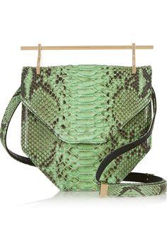 M2Malletier|Amor Fati python shoulder bag|NET-A-PORTER.COM