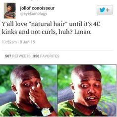 For real smh Fact Quotes, Funny Quotes, Funny Memes, Hilarious, Love Natural, Natural Hair Styles, Hair Jokes, Laugh Till You Cry, Black Memes