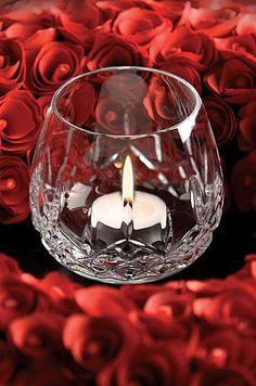 Svícen * ručně broušené sklo * Waterford Crystal.