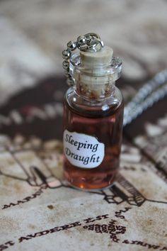 Harry Potter Potion - Sleeping Draught Vial Necklace. $14.00, via Etsy.
