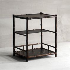 Japanese-style bamboo tea storage shelf