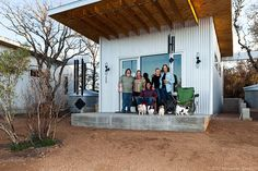 Not quite ready for retirement but feeling a little fatigued by the urban life, four Texas couples compromised. The friends constructed a mini-home complex they labeled the Llano Exit Strategy. According to a 2014 feature in Small House Bliss, the… Tiny House Living, Small Living, Location Chalet, Tiny House Community, Community Building, Growing Old Together, Building A Tiny House, Living Together, Secret Rooms