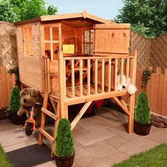 cabane de jardin pour enfant et jouets sympathiques