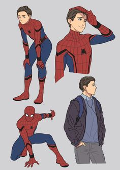 Spider-Man: Homecoming adorable drawings by @yukkoyy