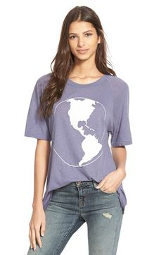 Wildfox 'The World' Short Sleeve Tee available at #Nordstrom