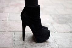 Cute little black boots!