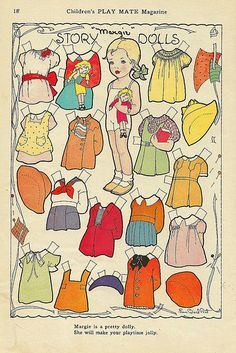 Vintage Paper Doll, Story Doll