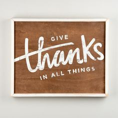 Give Thanks Framed Textual Art