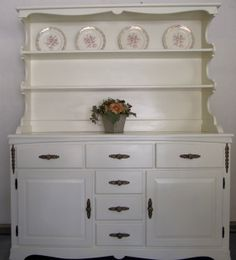 I NEED THIS!   vintage Shabby Chic Hutch Kitchen Sideboard by Sarabellatreasures, $599.00