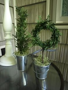 Mini Wreath Topiary | Less Than Perfect Life of Bliss | home, diy, travel, parties, family, faith